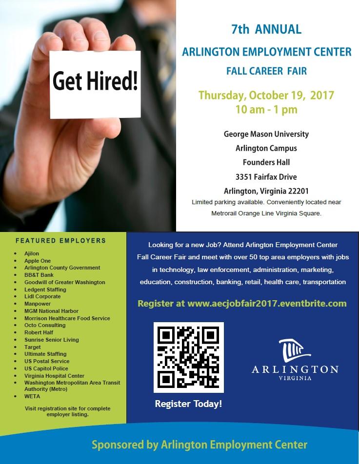 Arlington Federal Credit Union >> Arlington Employment Center Fall Career Fair   Virginia ...