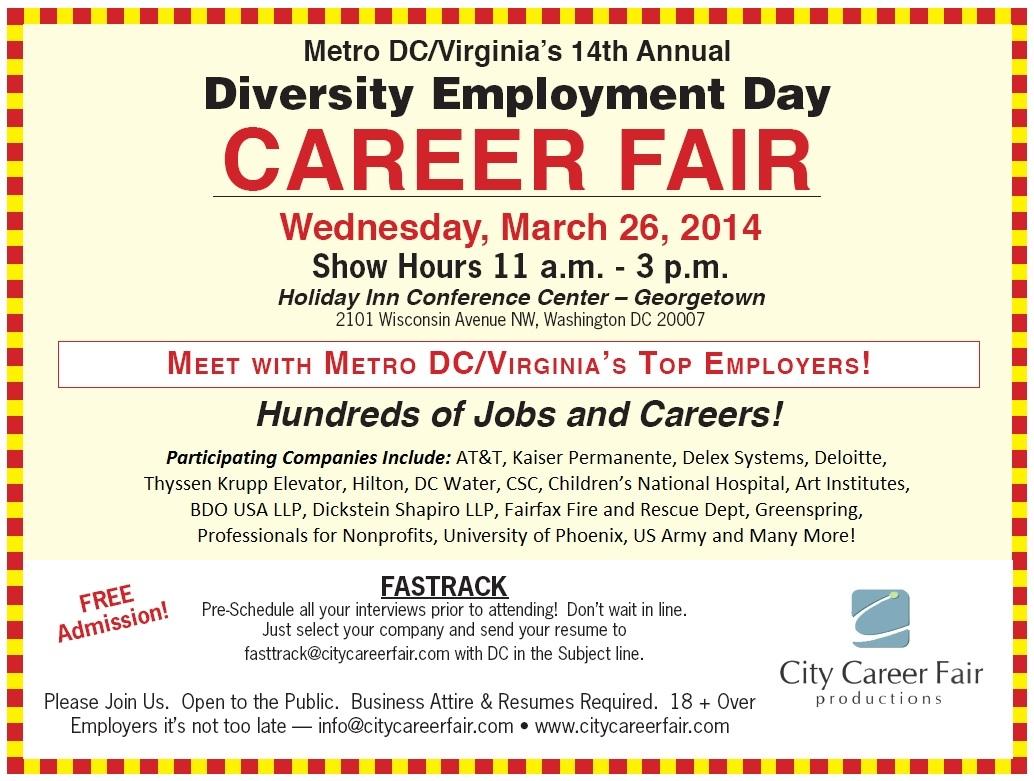 Metro Dc Virginia S 14th Annual Diversity Employment Day
