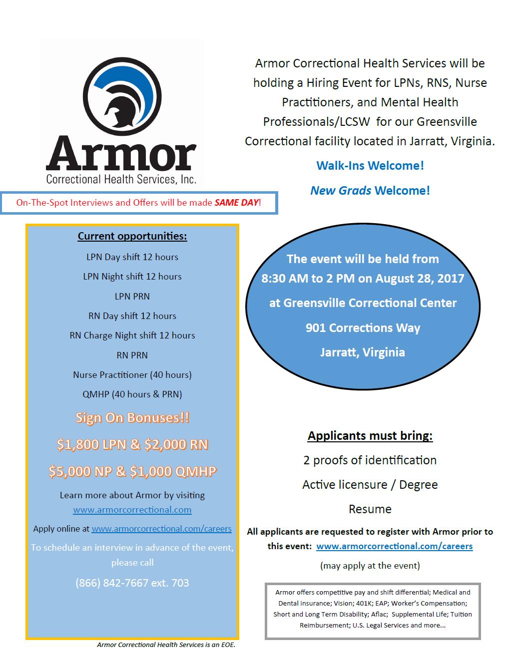 Healthcare Recruitment Hiring Event Qmhp Rn Lpn Np Virginia