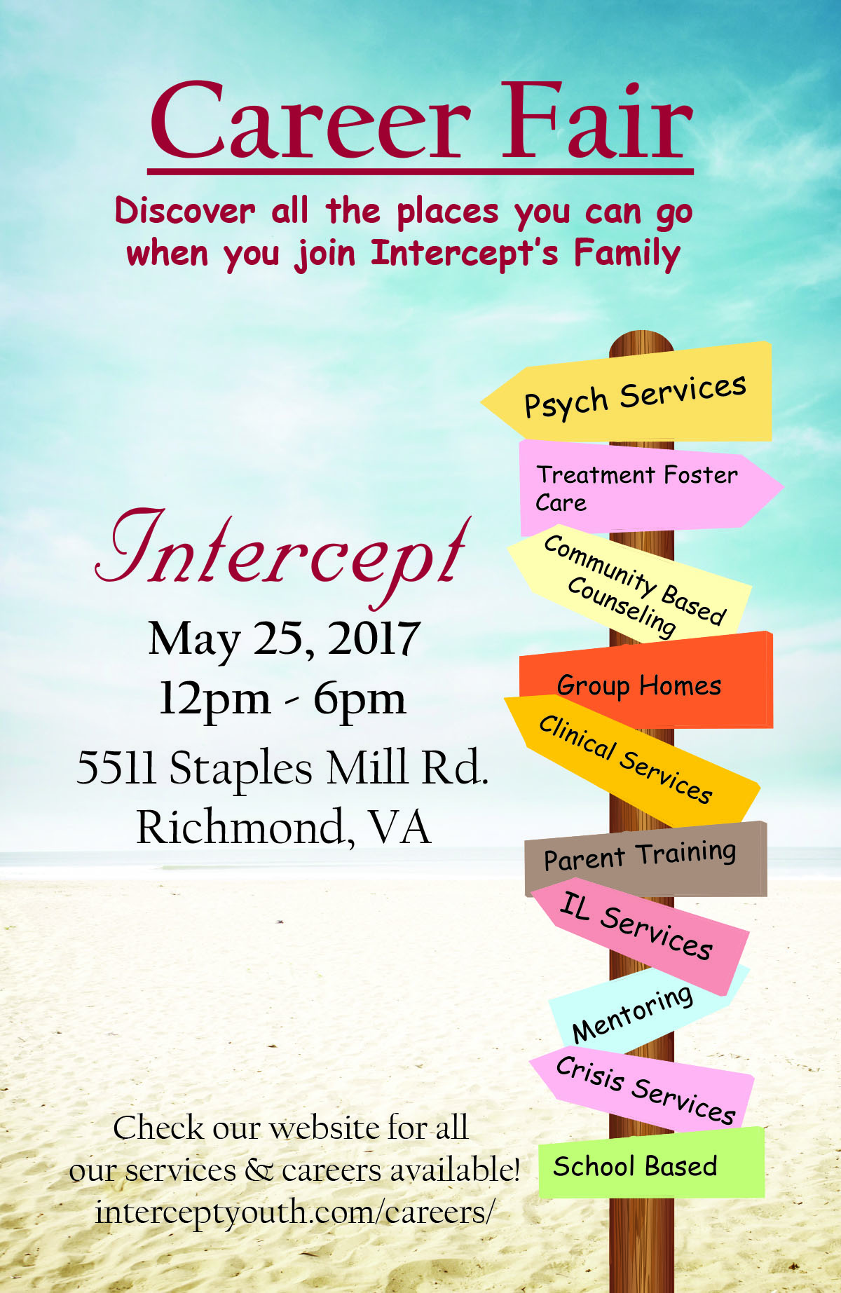 Intercept Youth Services Job Fair | Virginia Employment Commission