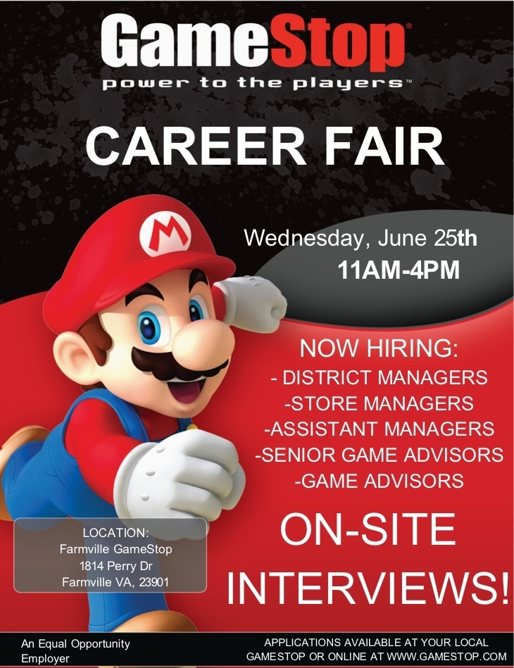 GameStop Job Fair