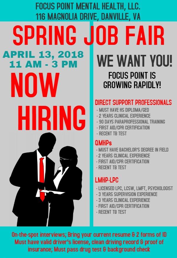2018 Spring Job Fair Virginia Employment Commission