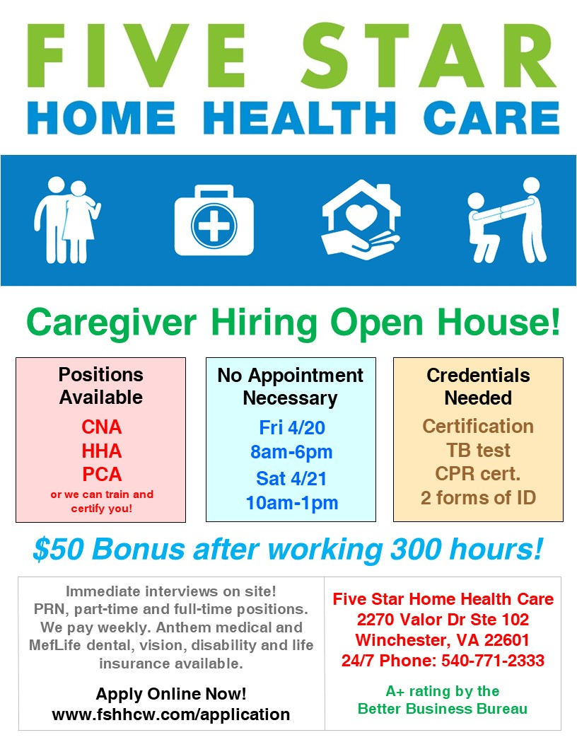 Caregiver hiring open house virginia employment commission event flyer 1betcityfo Choice Image